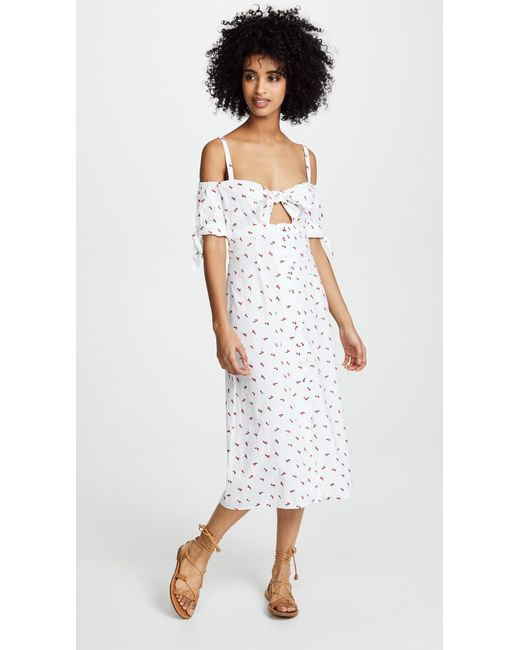 Bec & Bridge - White Cherry Pie Midi Dress - Lyst