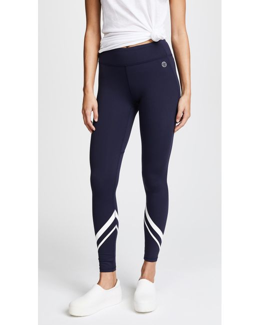 Tory Sport | Blue Chevron Full Length Leggings | Lyst