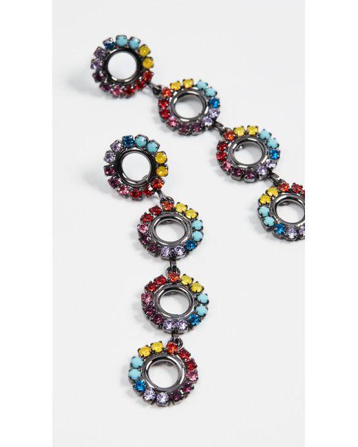 Elizabeth Cole - Multicolor Minka Linear Drop Earrings - Lyst