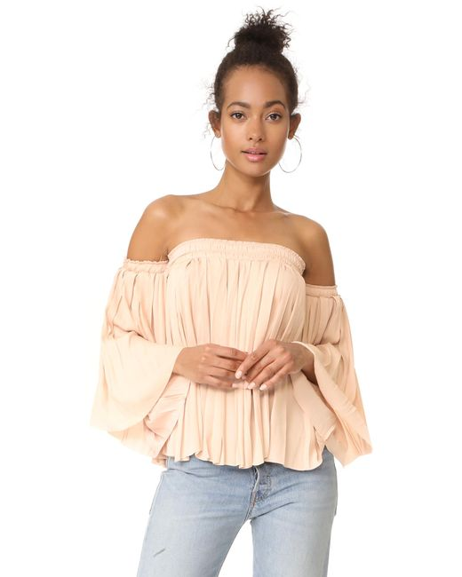 Elizabeth and James   Multicolor Emelyn Pleated Flare Sleeve Top   Lyst