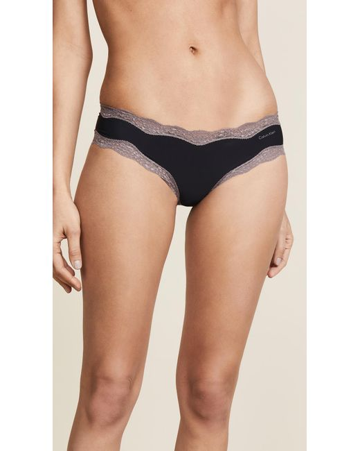 Calvin Klein - Black Hipsters With Lace - Lyst