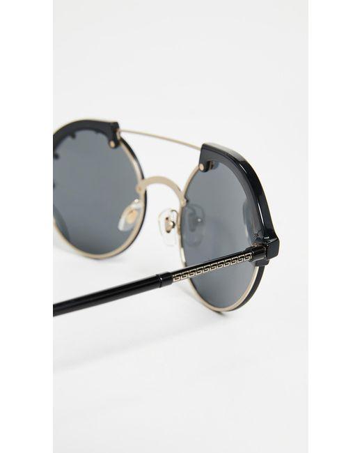 152b3446a2 ... Versace - Multicolor Ve4337 Round Aviator Sunglasses - Lyst ...