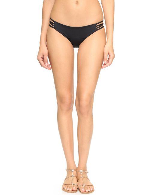 L*Space   Black Low Down Bikini Bottoms   Lyst