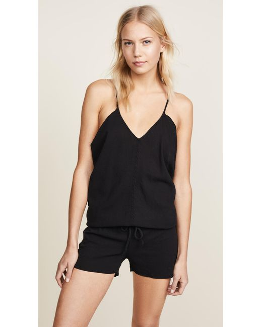 9seed Black Corsica Cover Up Romper