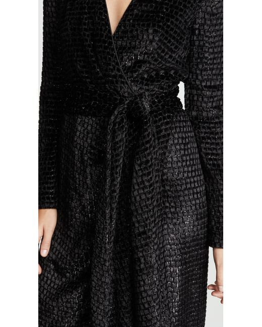 afffc350e4627 ... Brandon Maxwell - Black Wrap Gown With Sleeves - Lyst ...