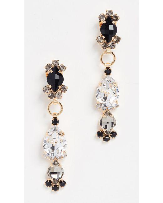Marni | Black Strass Earrings | Lyst