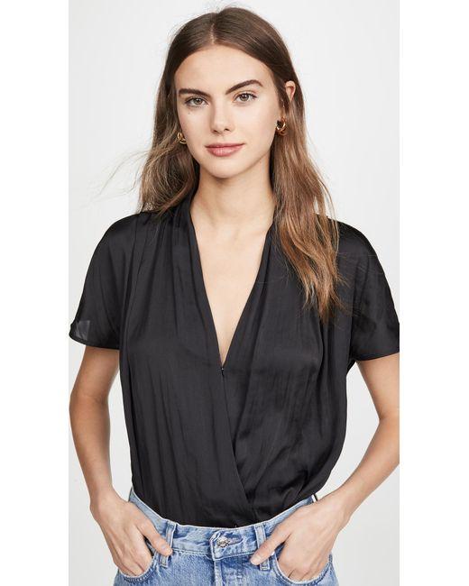 PAIGE Black Dijon Thong Bodysuit