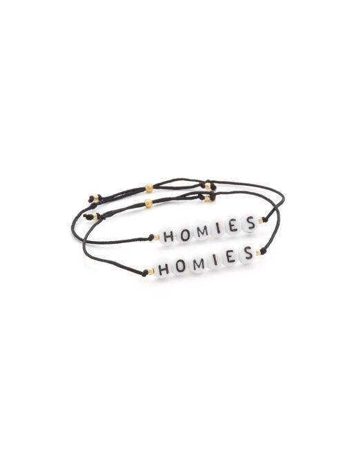 Venessa Arizaga | Black Homies Bracelet Set | Lyst