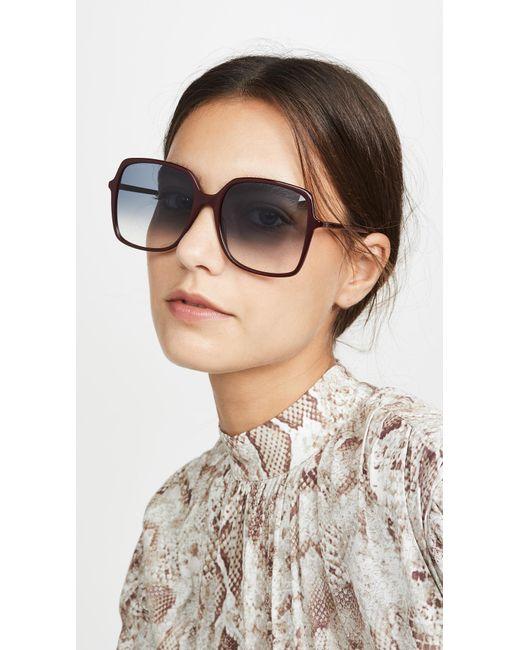 Gucci Blue Ultralight Acetate Square Sunglasses