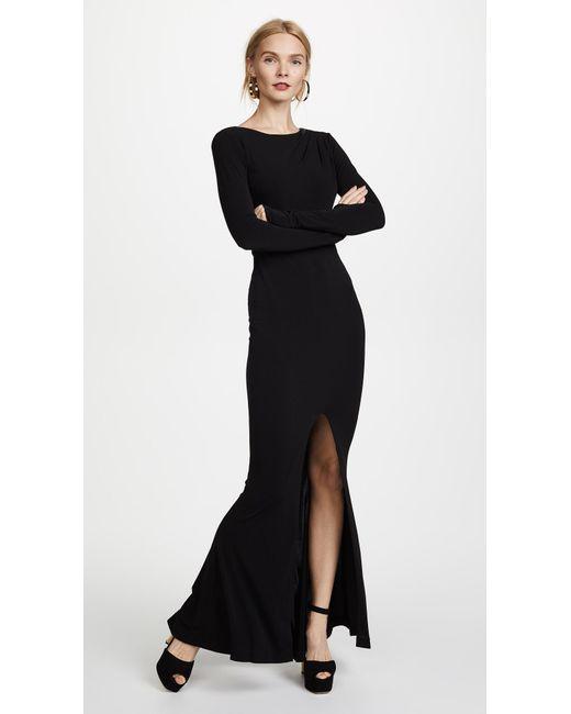 Rachel Zoe Black Long Sleeve Gown Lyst