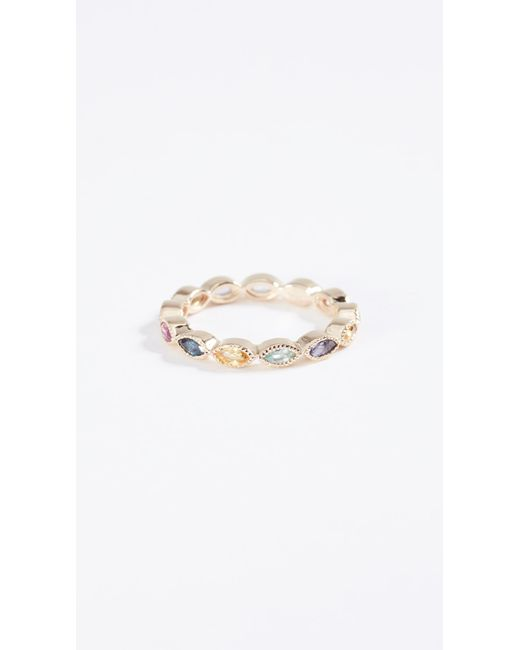 Eden Presley | Metallic 14k Gold Marquise Eternity Candy Band Color Stones Ring | Lyst