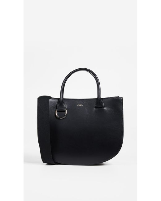 A.P.C. - Black Marion Tote Bag - Lyst