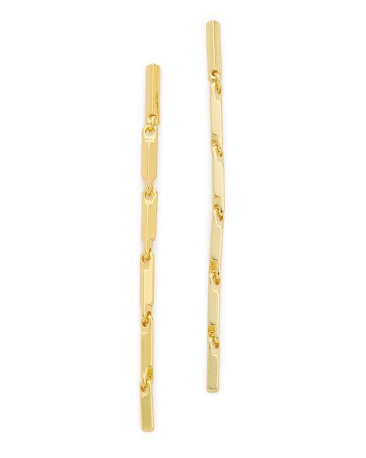 Eddie Borgo | Metallic Peaked Link Linear Drop Earrings | Lyst