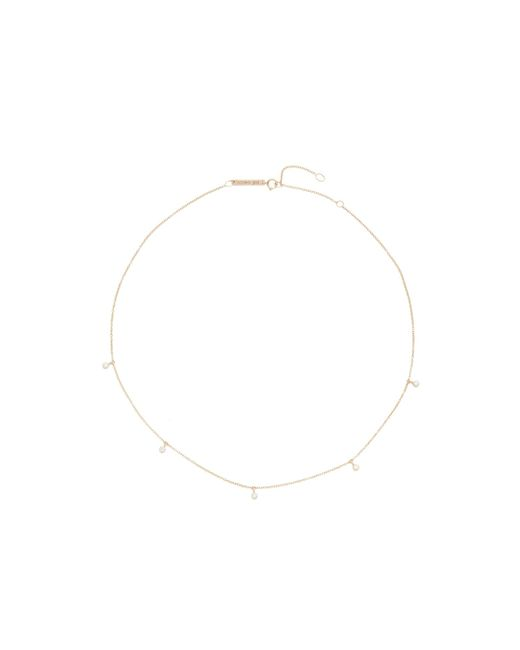 Zoe Chicco | Multicolor Five Diamond Chain Choker Necklace | Lyst