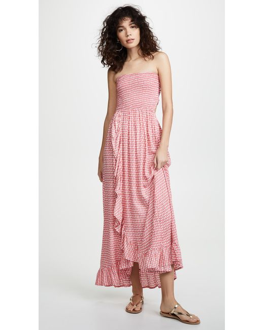 Tiare Hawaii Pink Eri Maxi Dress