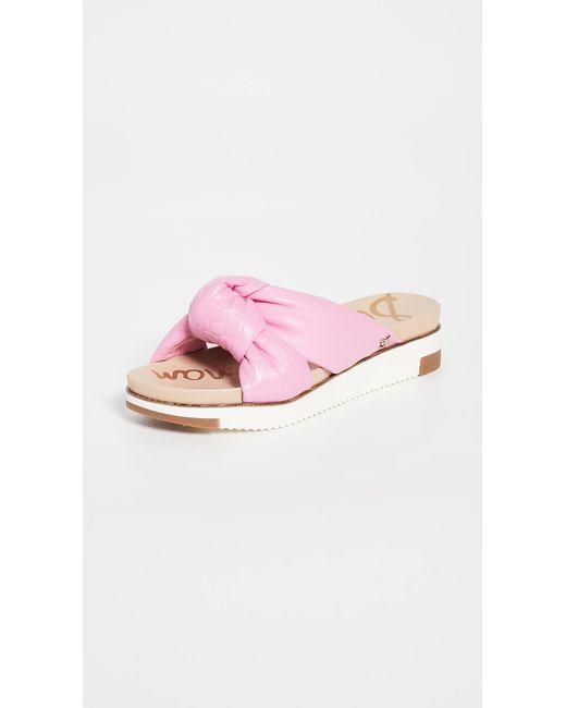 Sam Edelman Pink Agatha Slides