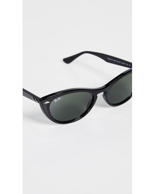 b49b12056a4 Ray-Ban Cat Eye Sunglasses in Black - Save 15.625% - Lyst