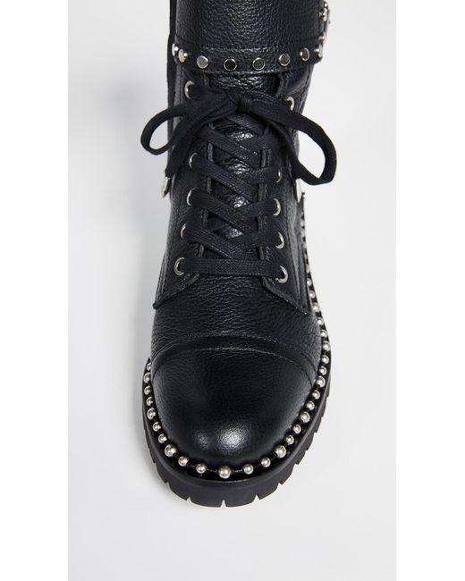 95d5c44bdc4ca4 ... Sam Edelman - Black Jennifer Moto Boots - Lyst ...