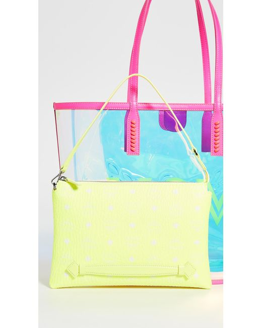 Shopper Logo Shoulder Bag Fluo Yellow Multicolour in für Damen