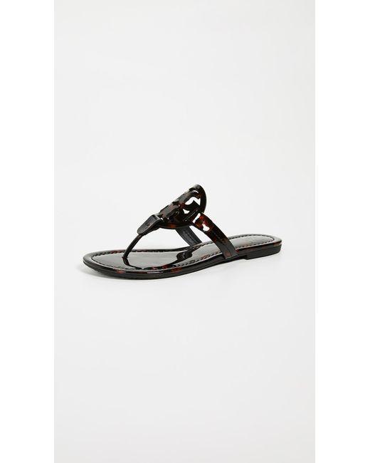 11a094045d2817 Tory Burch - Black Miller Thong Sandals - Lyst ...