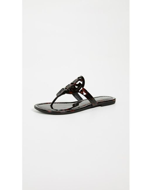 87c396ace6cb85 Tory Burch - Black Miller Thong Sandals - Lyst ...
