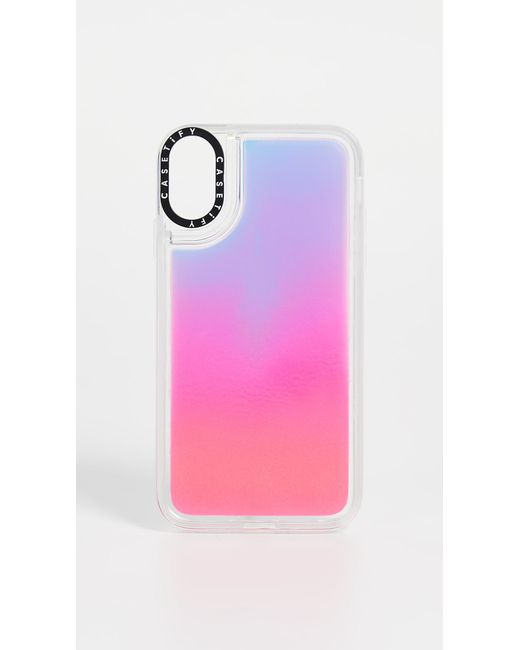 Casetify Pink Flame Neon Sand Iphone Case