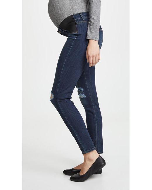 PAIGE Blue Maternity Verdugo Ankle Skinny Jeans