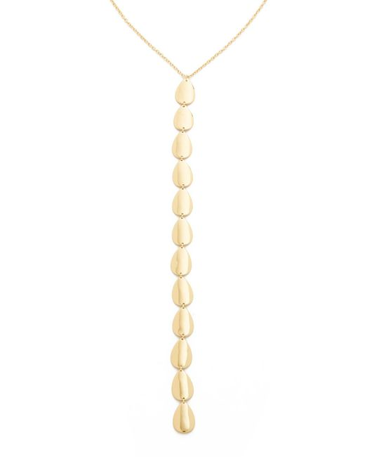 Elizabeth and James | Metallic Santorini Lariat Necklace | Lyst