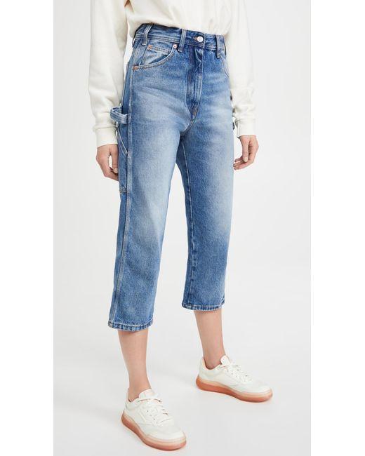 MM6 by Maison Martin Margiela Blue Pantalone 5 Tasche Jeans