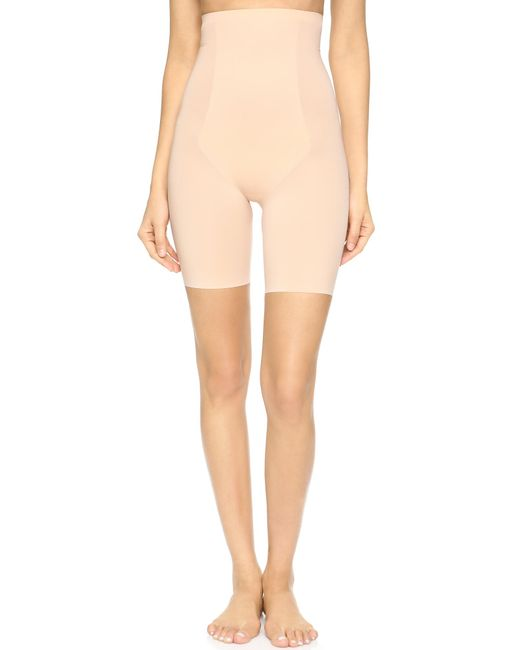 Spanx - Natural Thinstincts Targeted High Waist Shorts - Lyst