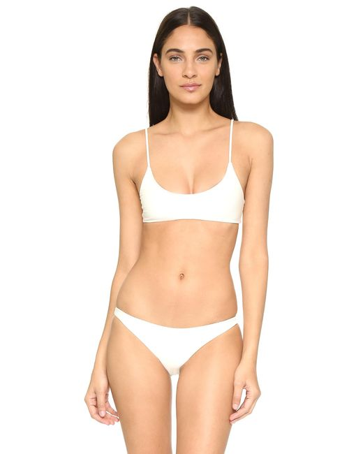 Mikoh Swimwear | White Hermosa Scoop Bikini Top | Lyst