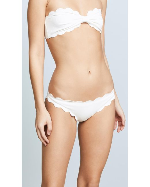 Marysia Swim - Black Antibes Scallop Bikini Bottoms - Lyst
