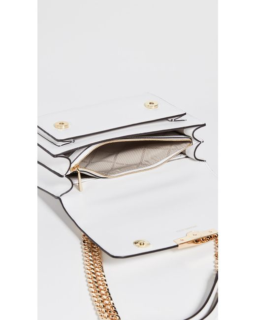 2737b1c73766 ... MICHAEL Michael Kors - White Jade Large Gusset Shoulder Bag - Lyst ...