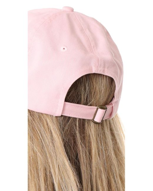 3a0ee077d9a65 Hat Attack Canvas Dad Cap in Pink - Save 10% - Lyst