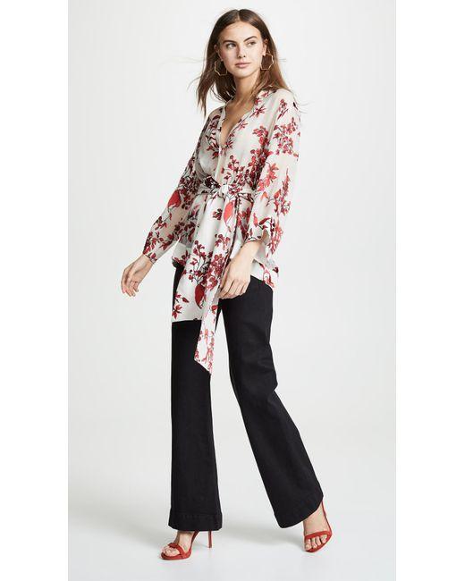 849d67954ce50 ... Alice + Olivia - Multicolor Rosario Tie Waist Kimono Top - Lyst ...