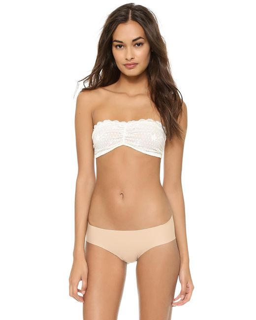 Free People | White Essential Lace Bandeau Bra | Lyst