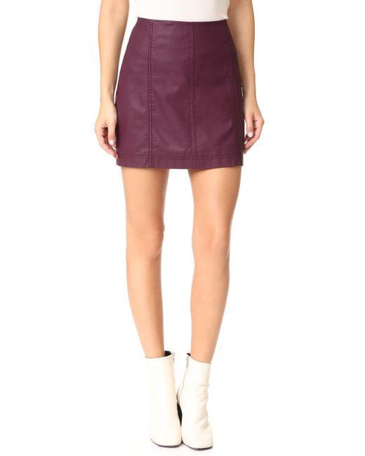 Free People | Multicolor Modern Femme Vegan Miniskirt | Lyst