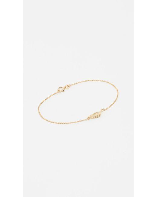 Jennifer Meyer Metallic Mini Leaf Bracelet
