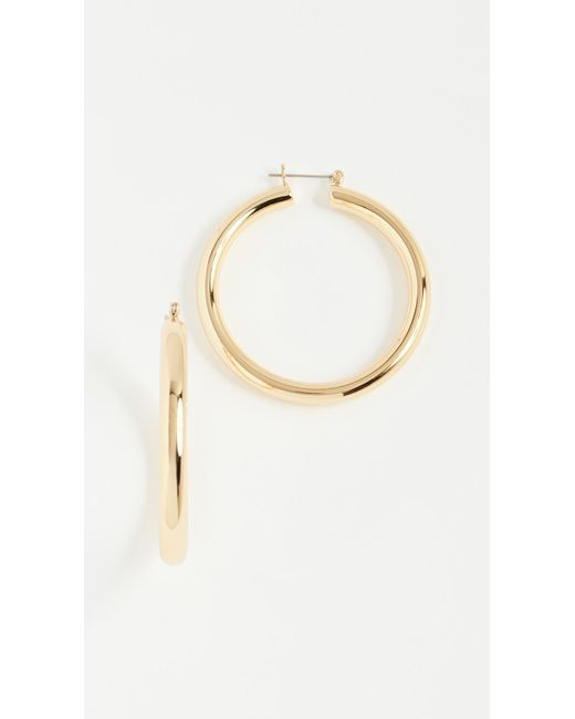 Luv Aj - Metallic Amalfi Tube Earrings - Lyst