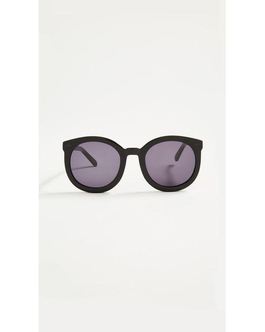 65e9a10a0573 Lyst - Karen Walker Super Duper Strength Sunglasses in Black - Save ...
