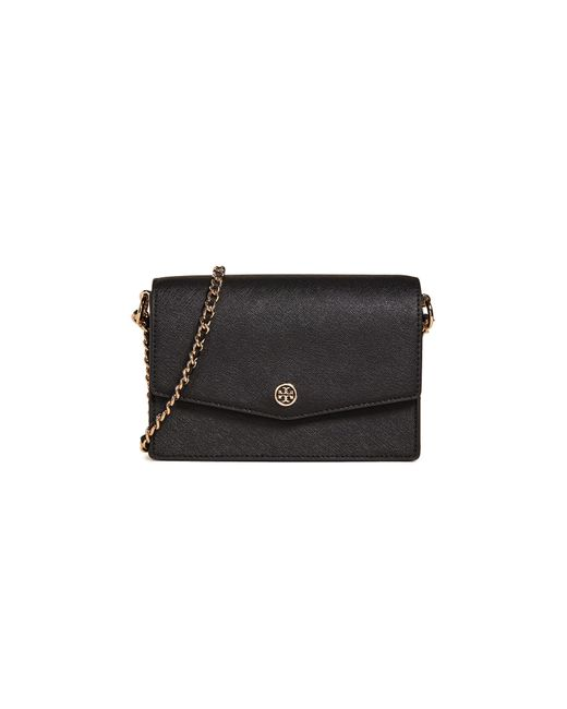 19fdf99cef81 Tory Burch Robinson Mini Shoulder Bag in Black - Save 27% - Lyst