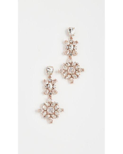 Kate Spade | Metallic Snowy Nights Linear Statement Earrings | Lyst