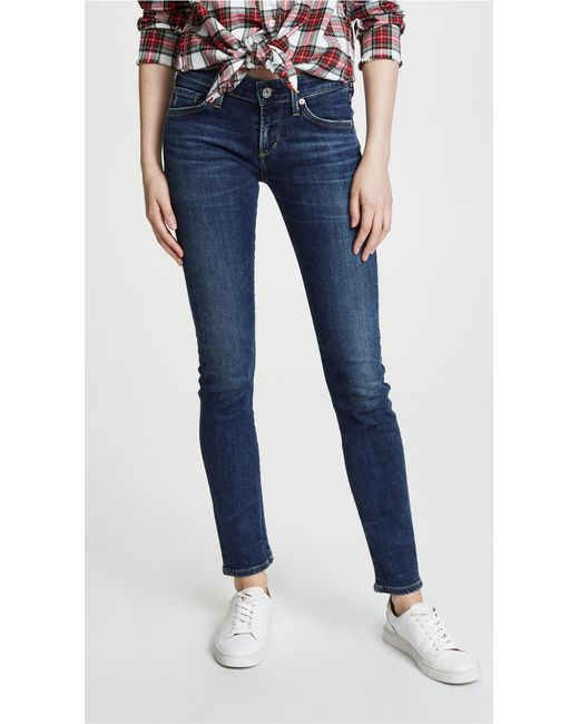 Citizens of Humanity - Blue Racer Low Rise Skinny Jeans - Lyst