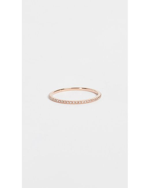 EF Collection Pink Diamond Eternity Stack Ring