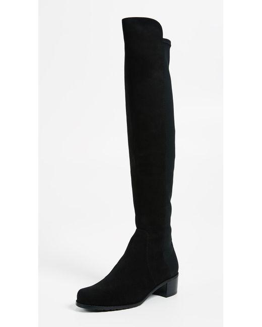 Stuart Weitzman - Black Suede Reserve Over-the-knee Boots 40 - Lyst