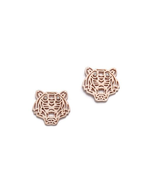 KENZO | Pink Mini Tiger Earrings | Lyst