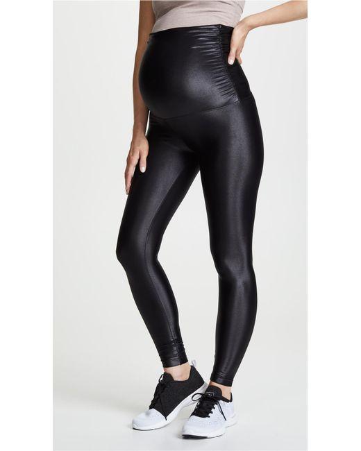 e010ef9e65e64 Koral - Black Lustrous Maternity Leggings - Lyst ...
