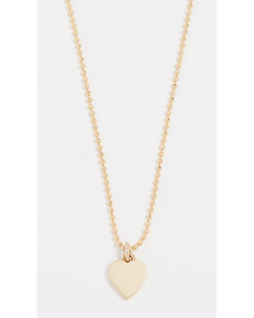 Jennifer Meyer | Metallic Heart Necklace | Lyst