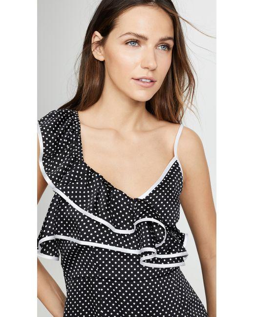 d2a4d0c43832 ... MINKPINK - Black Vienna Spot Frill Dress - Lyst ...
