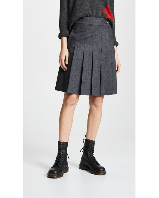 A.P.C. - Black Hortense Wrap Skirt - Lyst